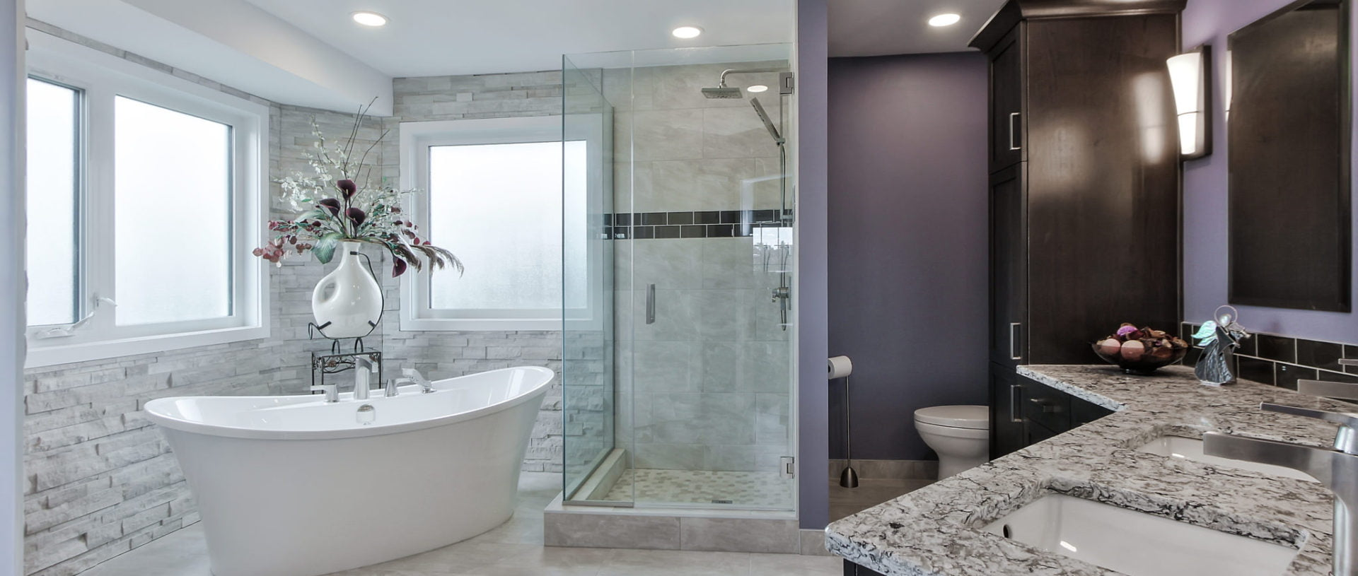 Complete Edmonton ensuite renovation with custom finishes