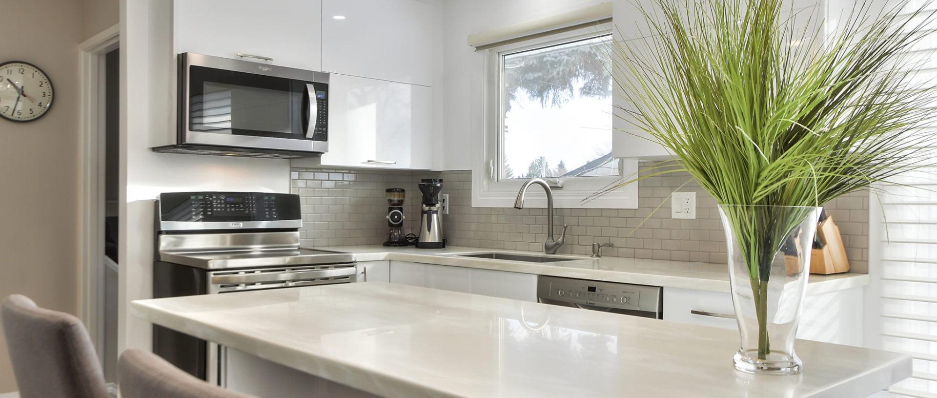 Custom kitchen renovation in Edmonton in Modern style