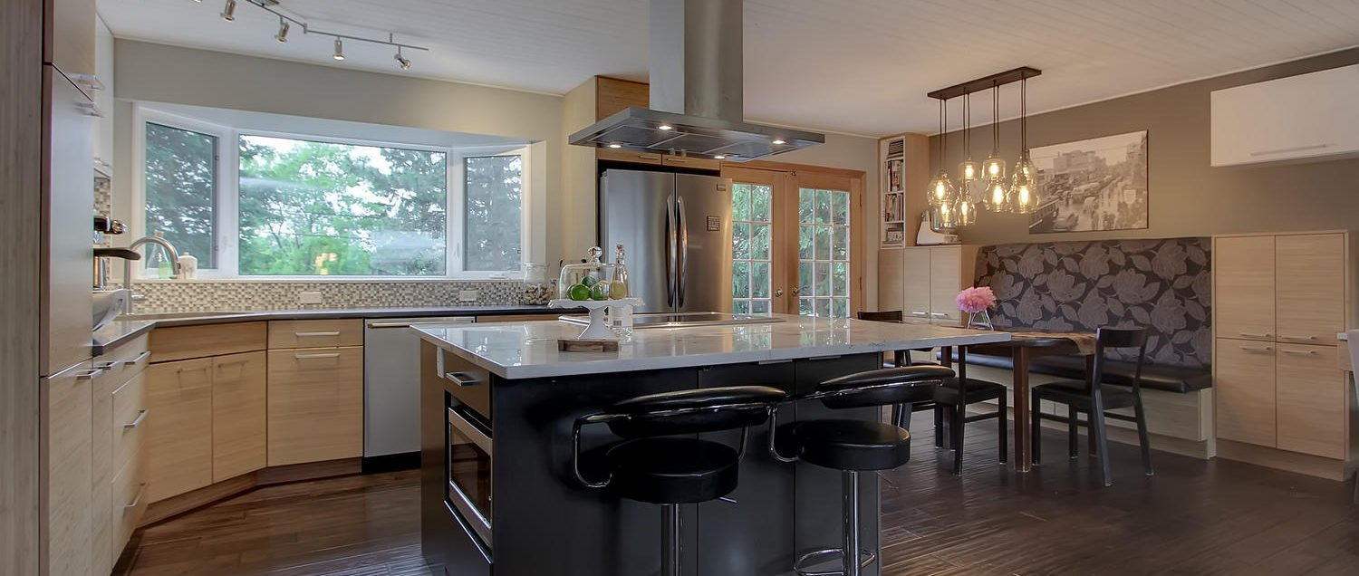 Full Edmonton home renovation including kitchen, dining room, living room and home office